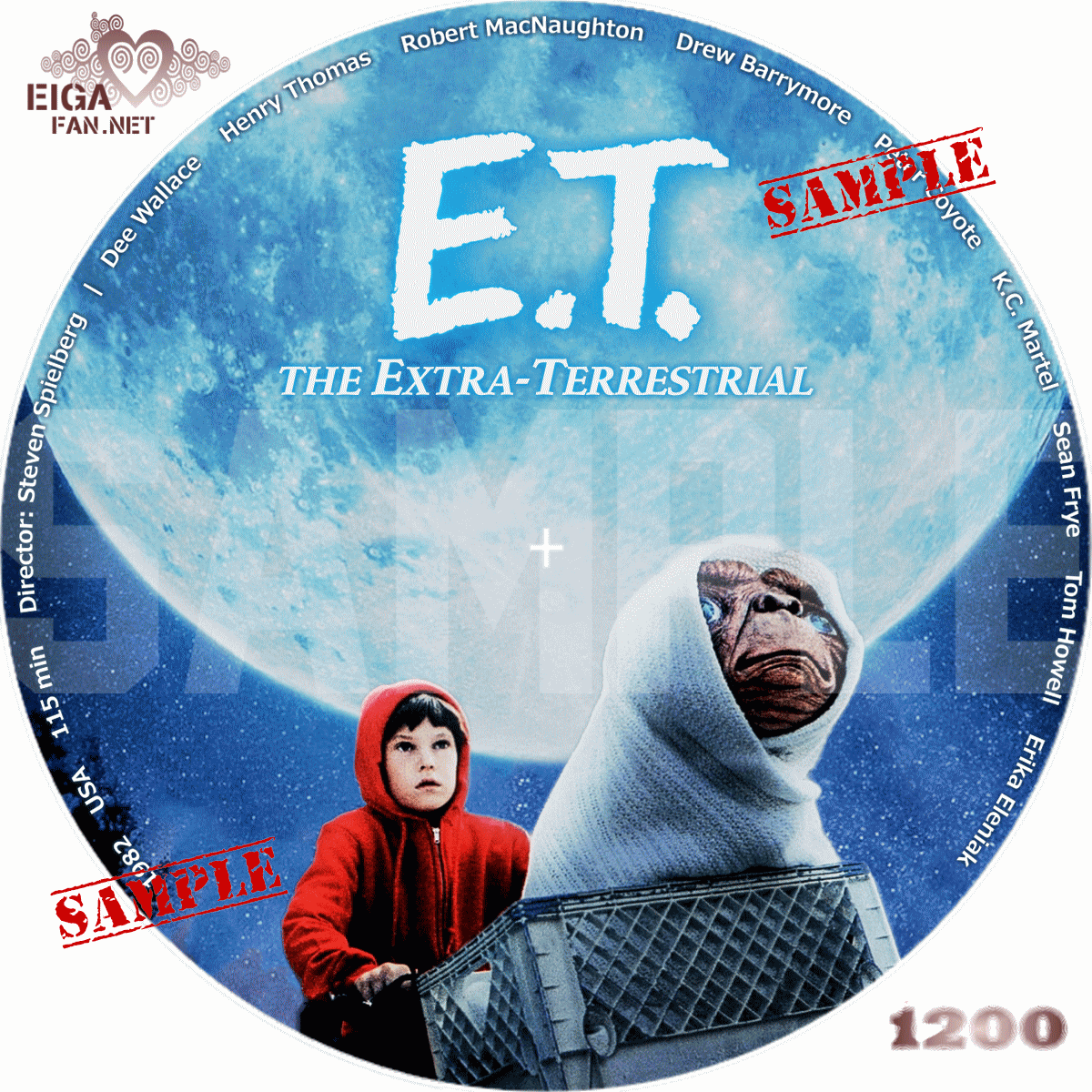E.T./E.T. THE EXTRA-TERRESTRIAL (1982)      自作DVDラベル&BDラベル      洋画【英字】PAGE-98